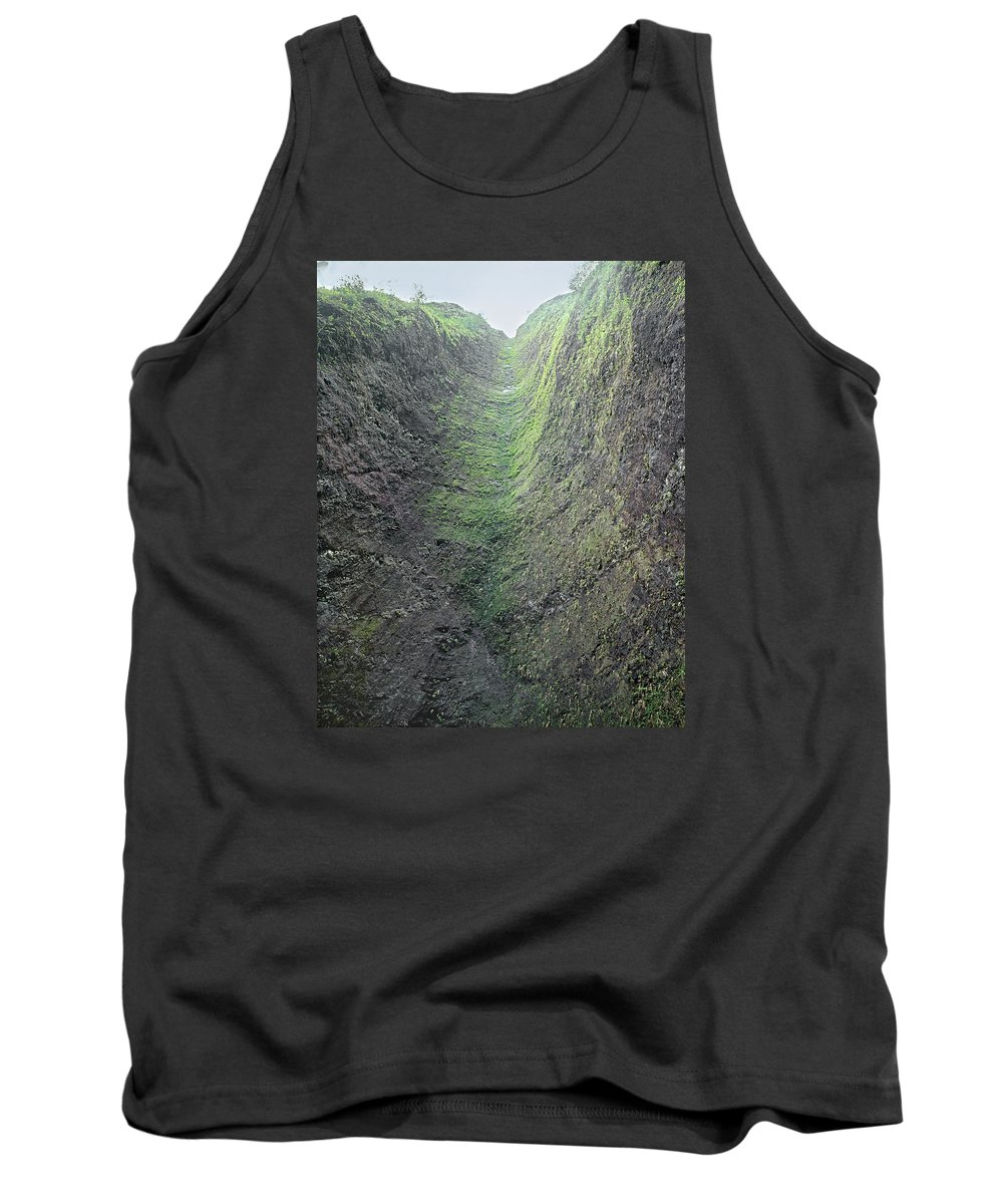 Waterfall Chute Tank Top featuring the photograph 100453-waterfall Chute by Ed Cooper Photography