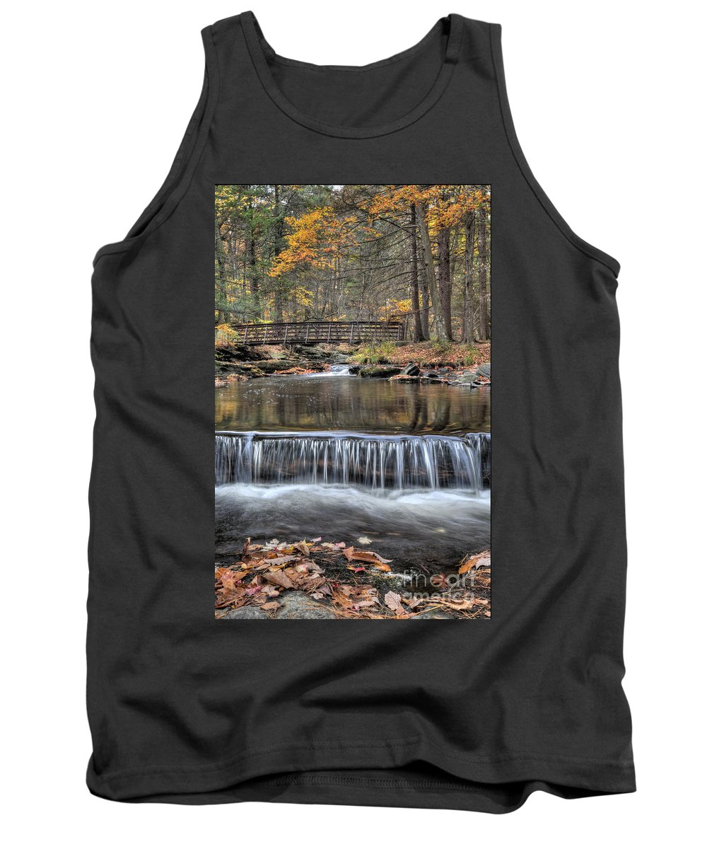 Autumn Tank Top featuring the photograph Waterfall - George Childs State Park by Paul Ward