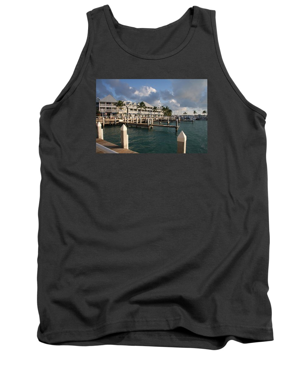 Bayfront Tank Top featuring the photograph Waterfront Key West by Christiane Schulze Art And Photography
