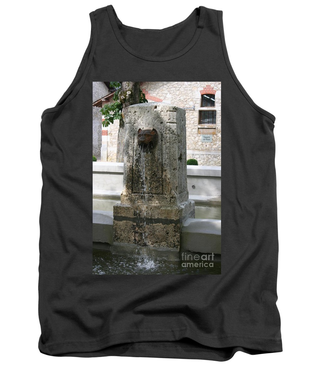 Water Tank Top featuring the photograph Waterspout Garden Chateau Chaumont by Christiane Schulze Art And Photography
