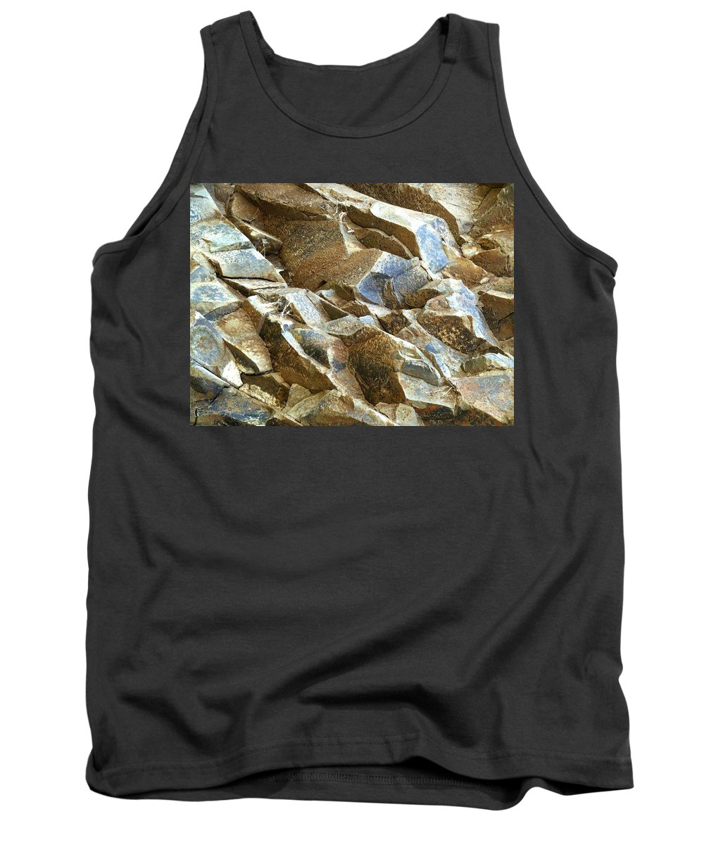 Rock Tank Top featuring the photograph Waves Of Rock by Steve Taylor