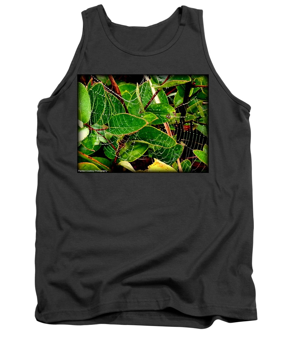 Web Tank Top featuring the photograph Web4 by Daniel Jakus
