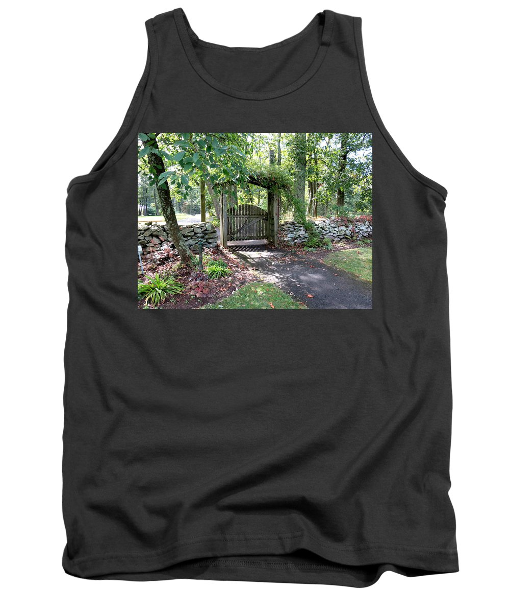 Gate Tank Top featuring the photograph Welcome by Jean Macaluso