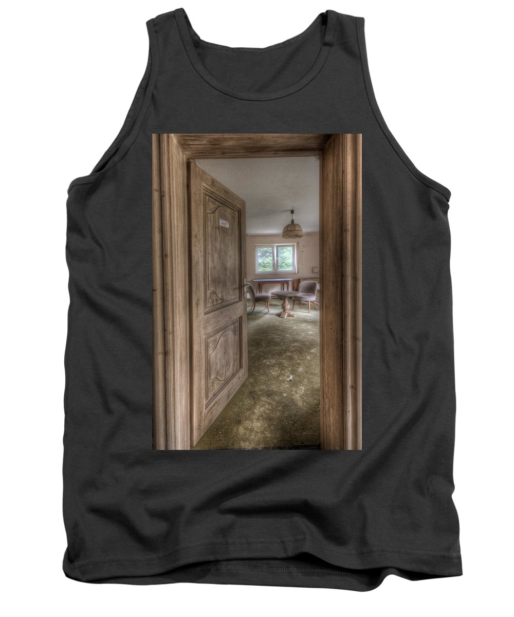 Hotel Tank Top featuring the digital art Welcome To The Mold by Nathan Wright