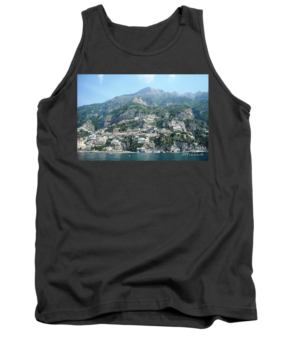 Positano Tank Top featuring the photograph Welcoming Positano by Lisa Kilby