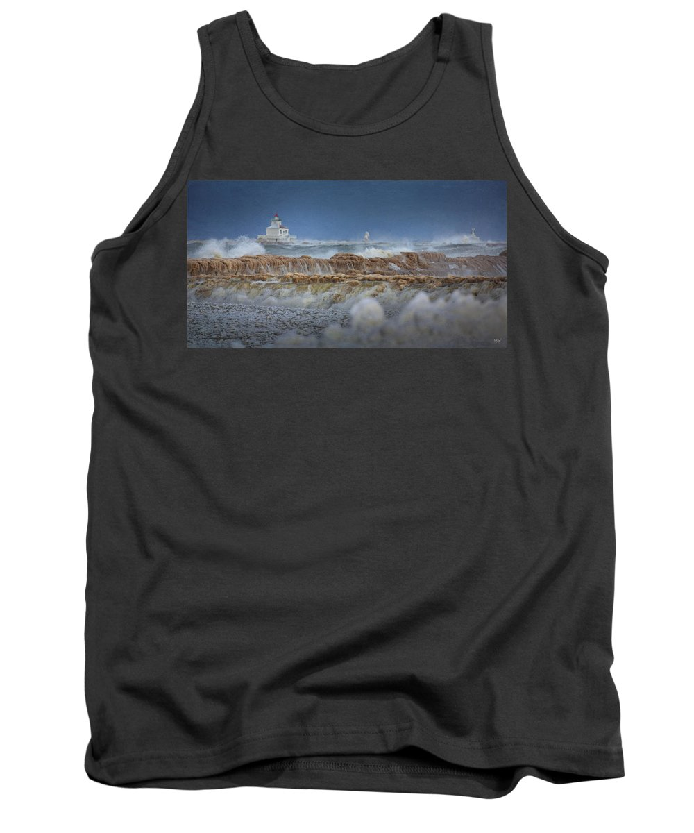Lighthouse Tank Top featuring the photograph West Pierhead In Ice by Everet Regal