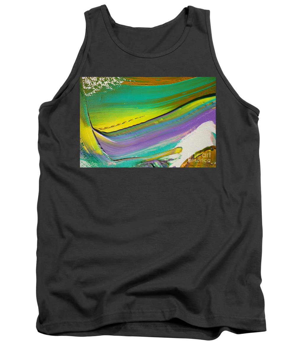Paint Tank Top featuring the painting Wet Paint 6 by Jacqueline Athmann