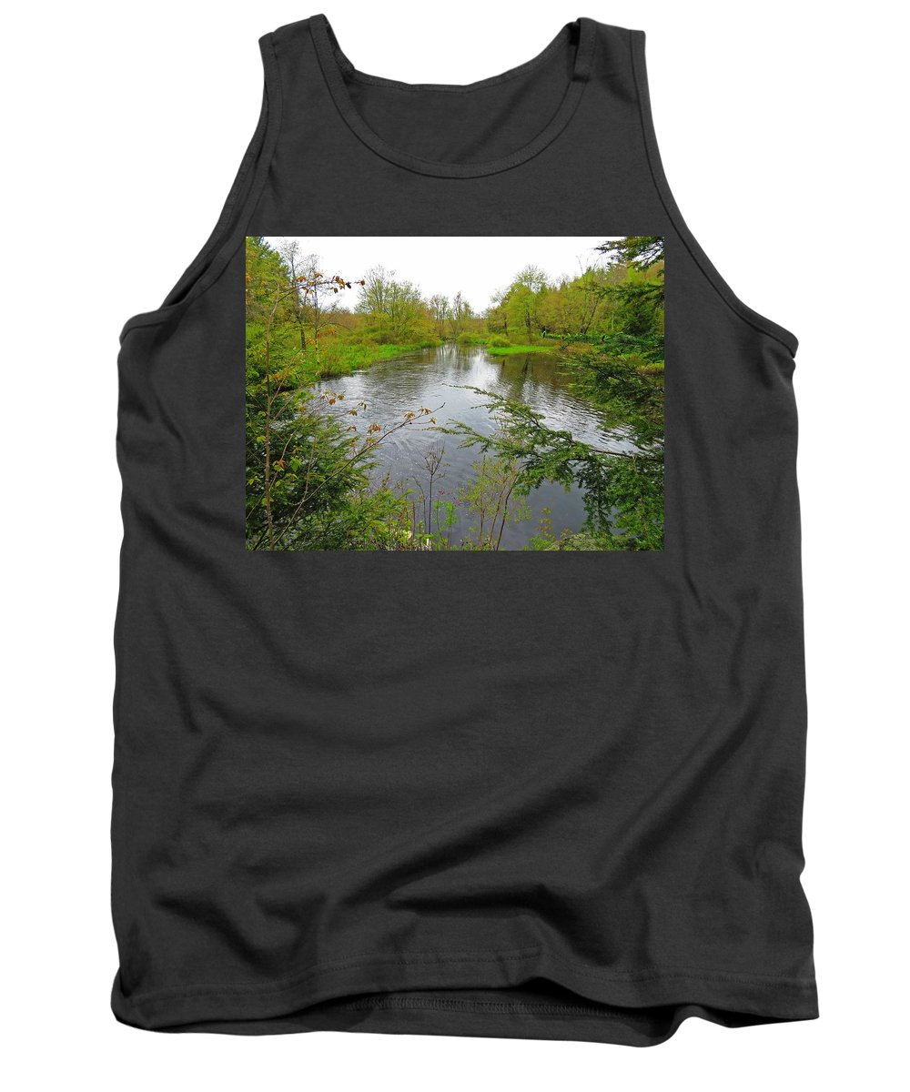Wetland Tank Top featuring the photograph Wetland Greens by MTBobbins Photography