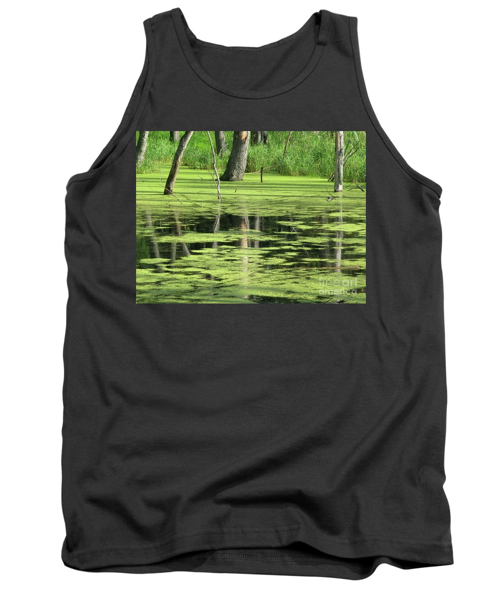 Landscape Tank Top featuring the photograph Wetland Reflection by Ann Horn