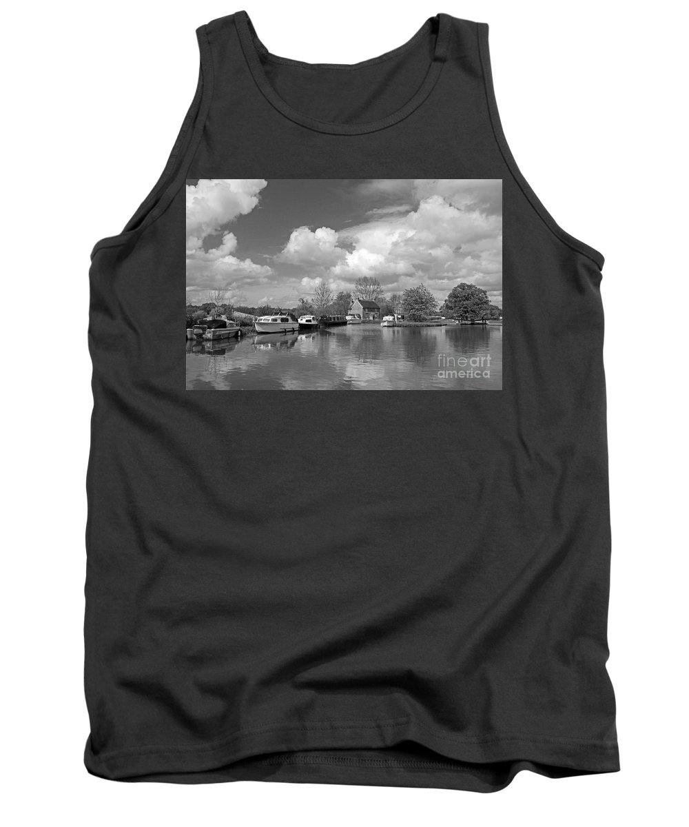 Wey Canal Ripley Surrey Tank Top featuring the photograph Wey Canal Ripley Surrey by Julia Gavin