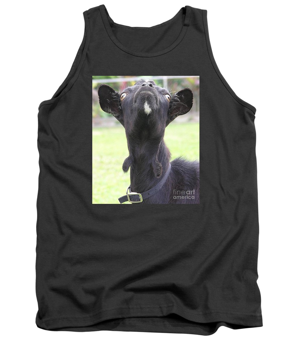 Goat Tank Top featuring the photograph Whats Up by Mary Deal