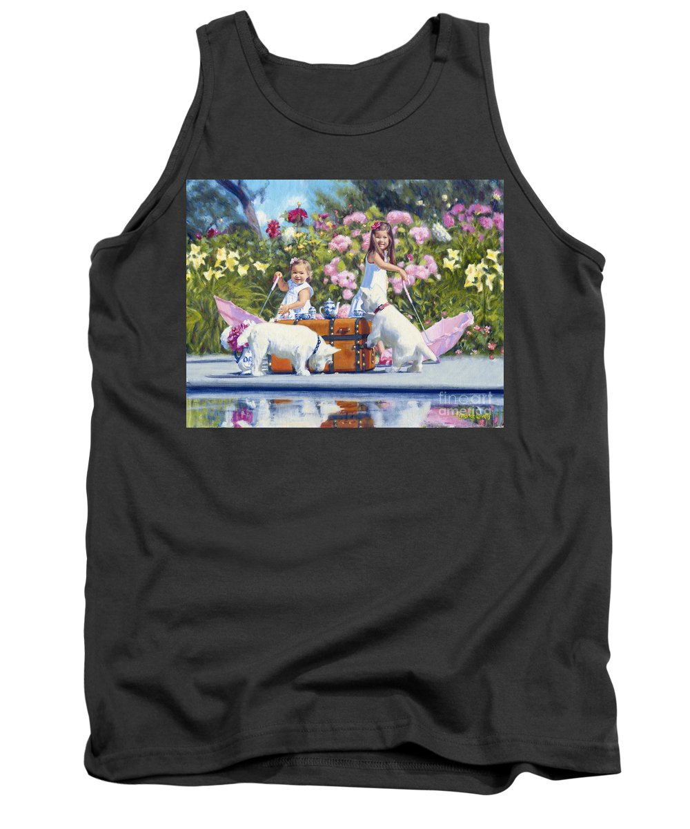 Tank Top featuring the painting Whats Your Cup Of Tea by Candace Lovely