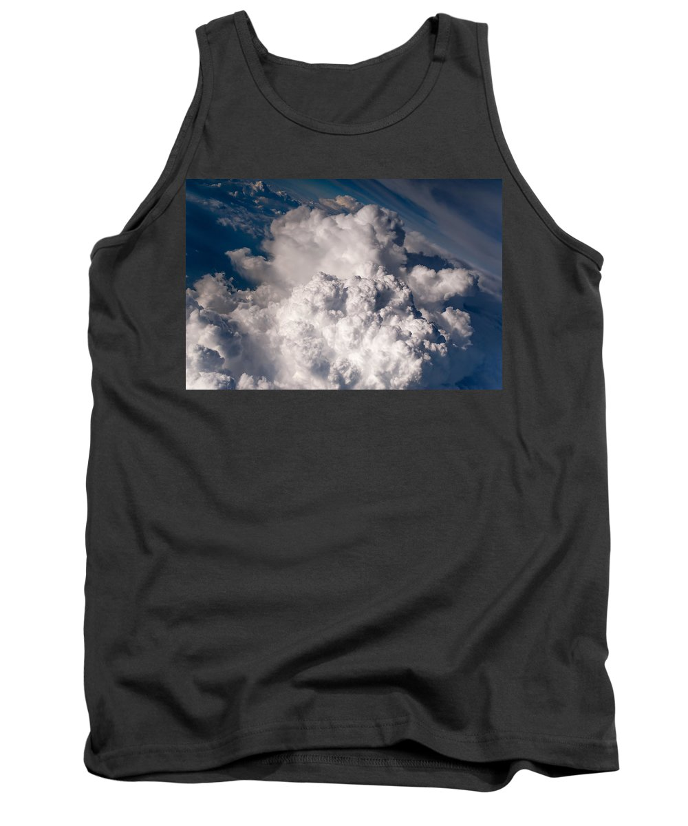 Aerial.clouds Tank Top featuring the photograph When The Dreams Coming True 1 by Jenny Rainbow