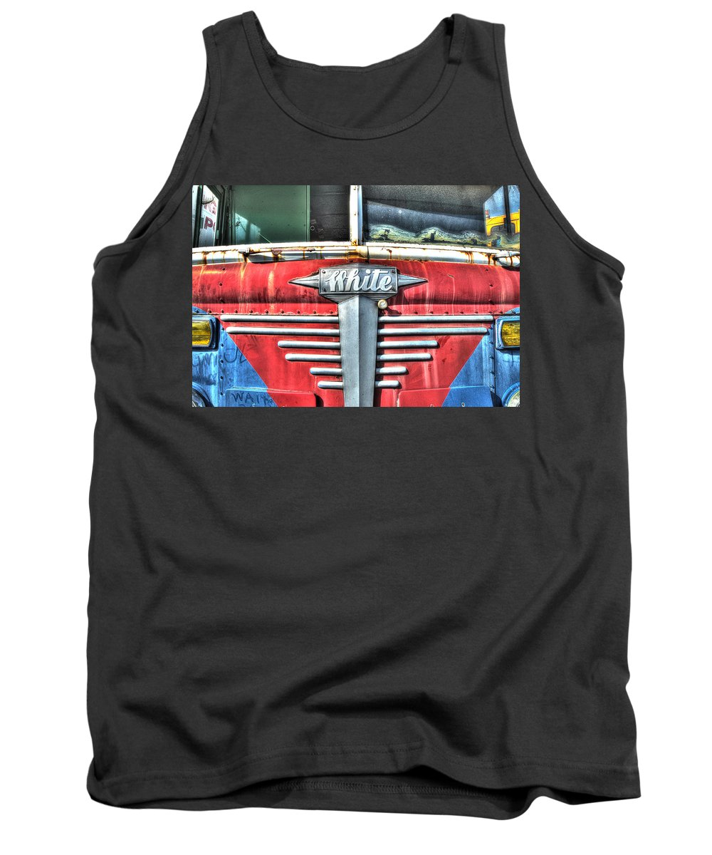 Historic Tank Top featuring the photograph White Motor Company Highway Post Office U. S. Mail No 1 by Greg Hager