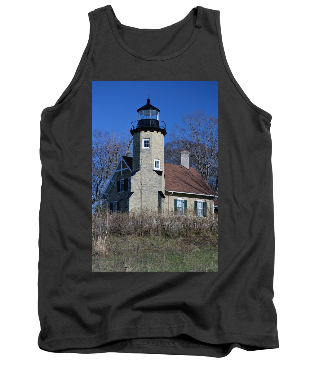 White River Lighthouse Tank Top featuring the photograph White River Light by Linda Kerkau