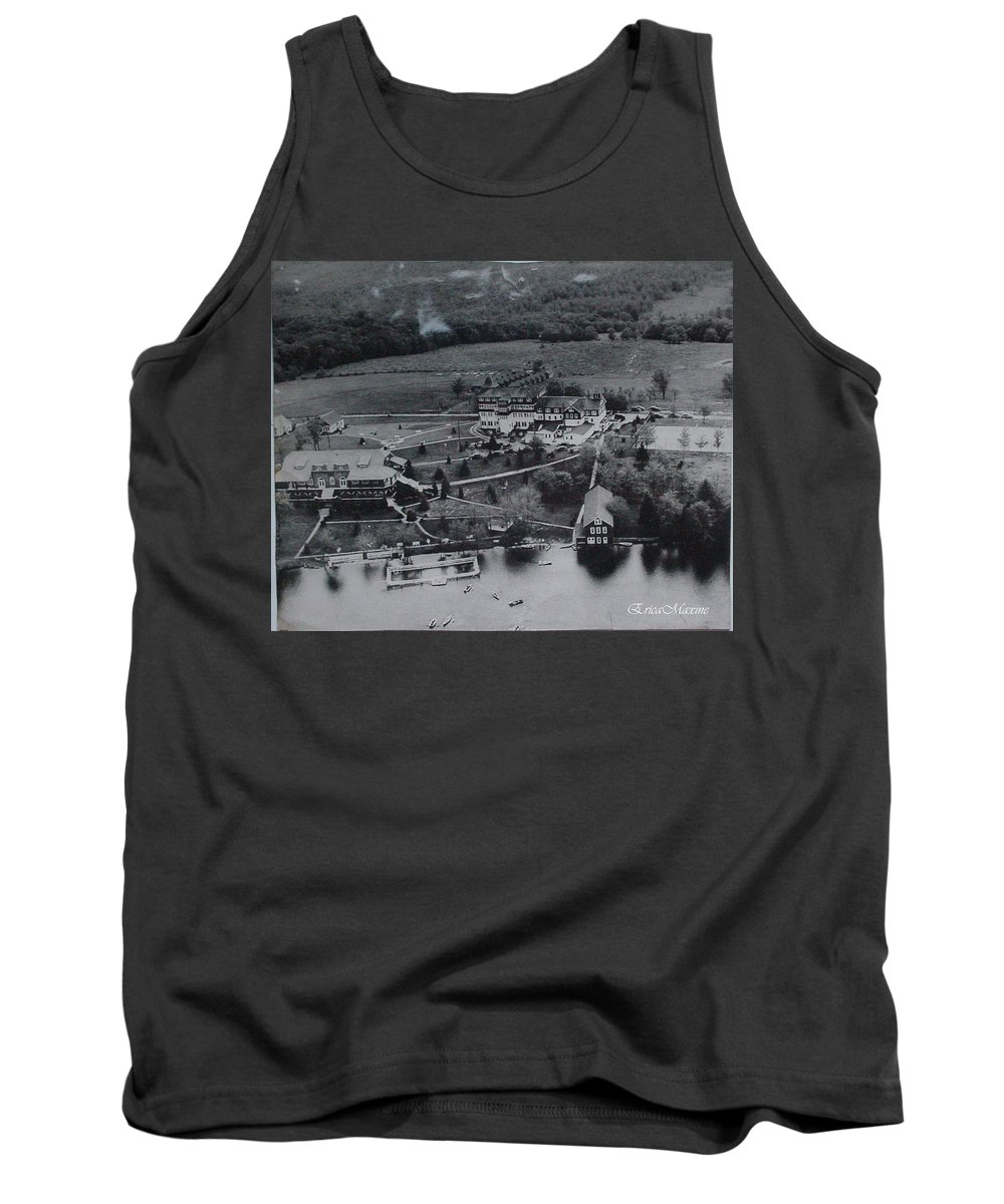Catskills Tank Top featuring the photograph White Roe Lake Hotel-catskill Mountains Ny by Ericamaxine Price