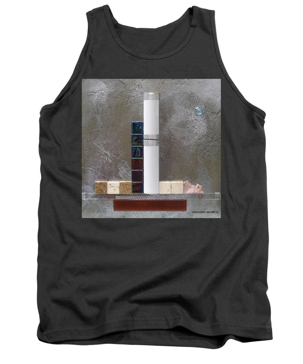 Assemblage Tank Top featuring the relief White Tower by Elaine Booth-Kallweit