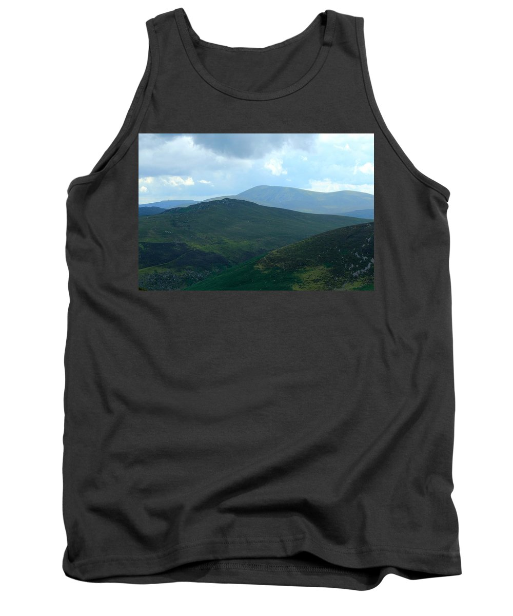 Wicklow Mountains Tank Top featuring the photograph Wicklow Sleeping Giants by Robert Phelan