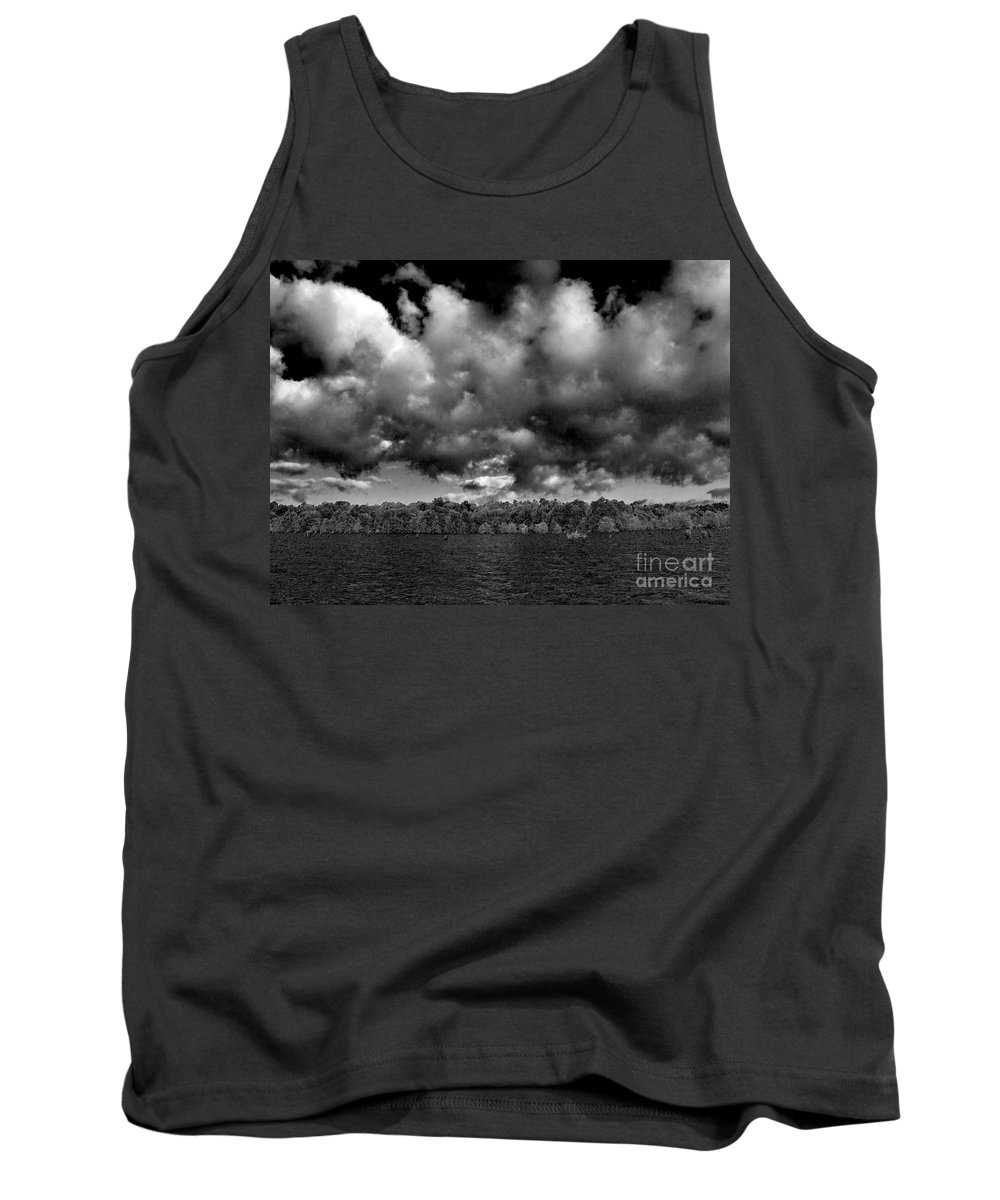 Vernon Lake Tank Top featuring the photograph Wid Open Lake by Ken Frischkorn
