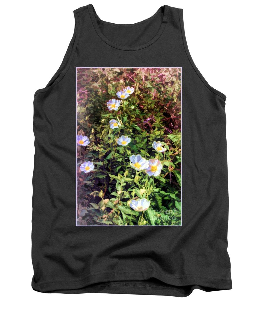 Wildflowers Tank Top featuring the digital art Wildflower Wandering by Georgianne Giese