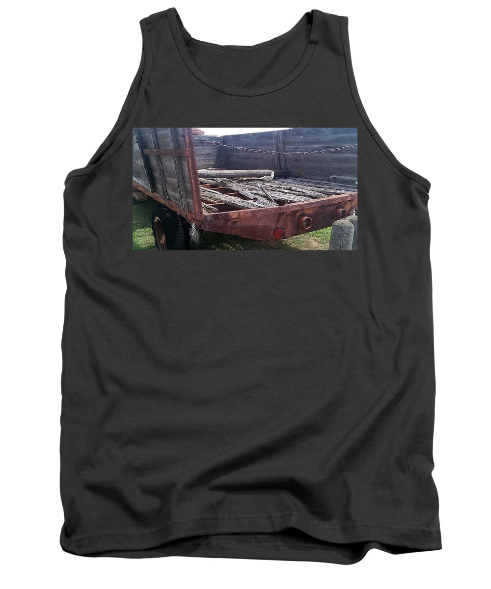 Rust Tank Top featuring the photograph Will Not Haul Much by Glenn Aker