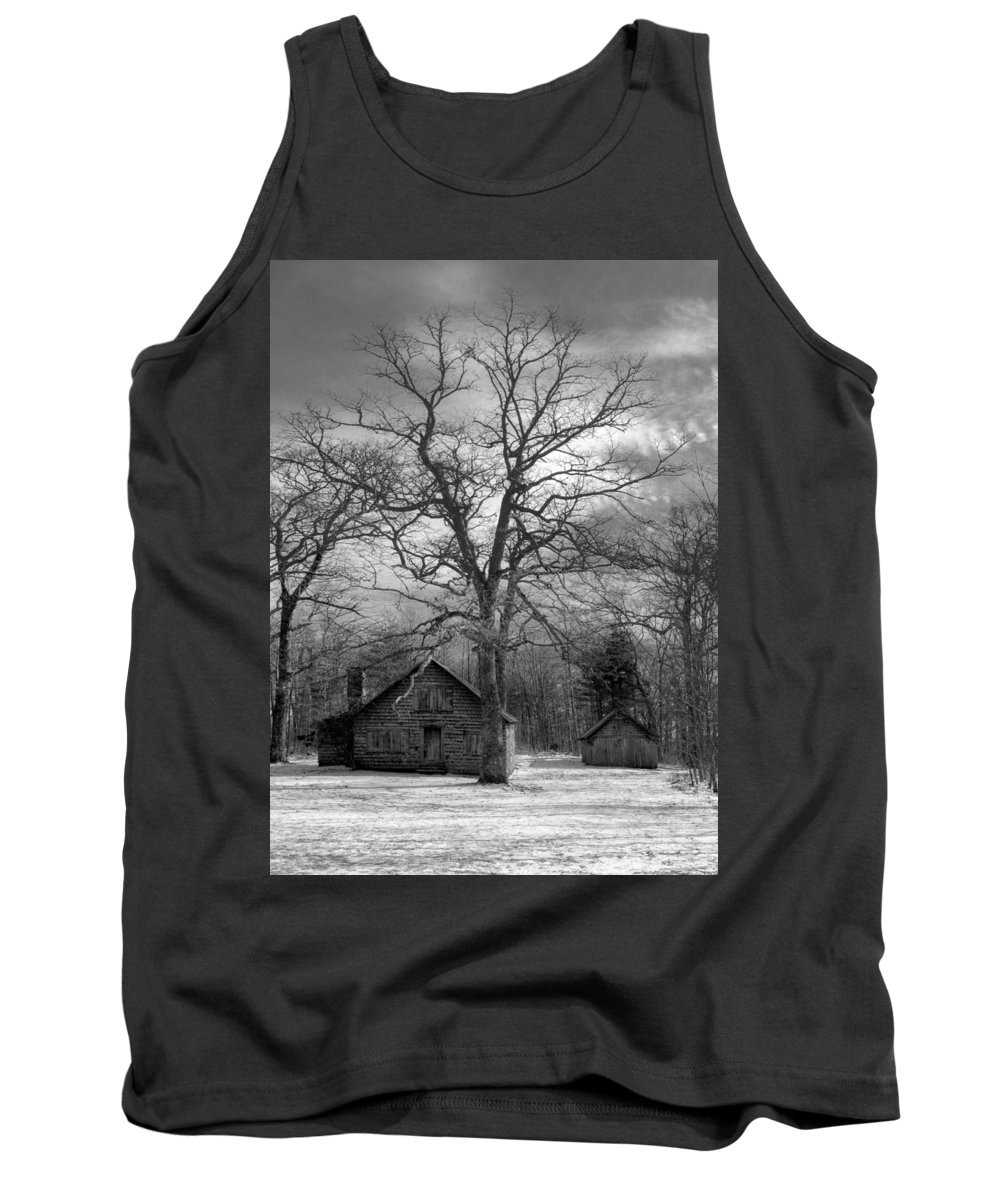 Appalachia Tank Top featuring the photograph Wilson Lick Ranger Station by Debra and Dave Vanderlaan