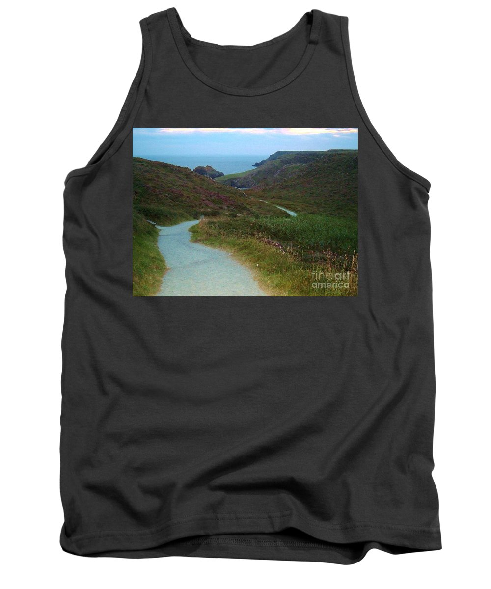 Path Tank Top featuring the photograph Winding Path by Lisa Byrne