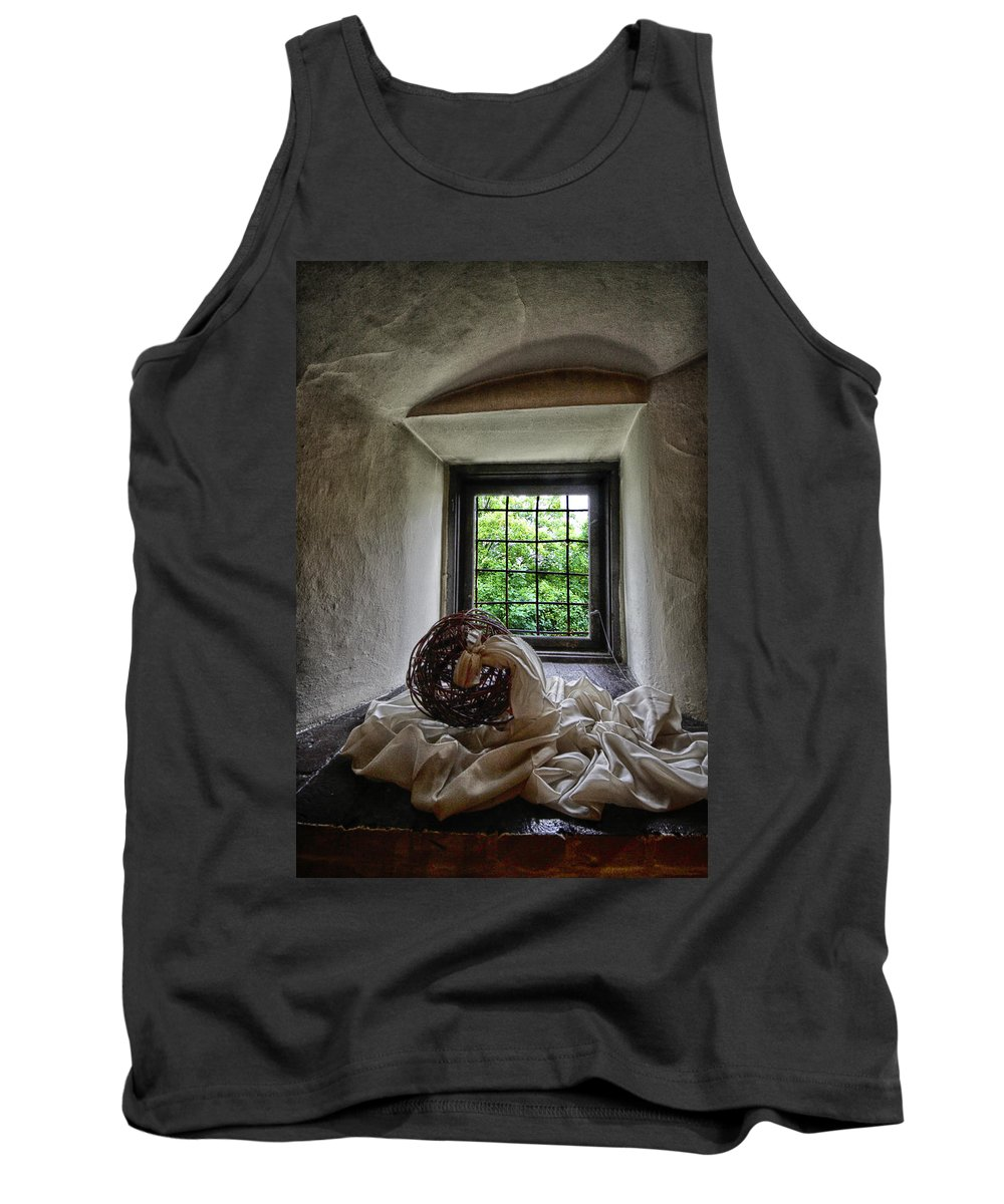 Poland Tank Top featuring the photograph Window At Zamek Joannitow Hotel In Poland by Robert Woodward