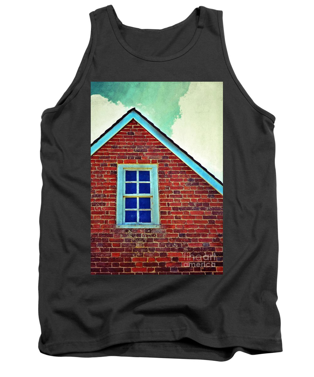 Window Tank Top featuring the photograph Window In Brick House by Jill Battaglia