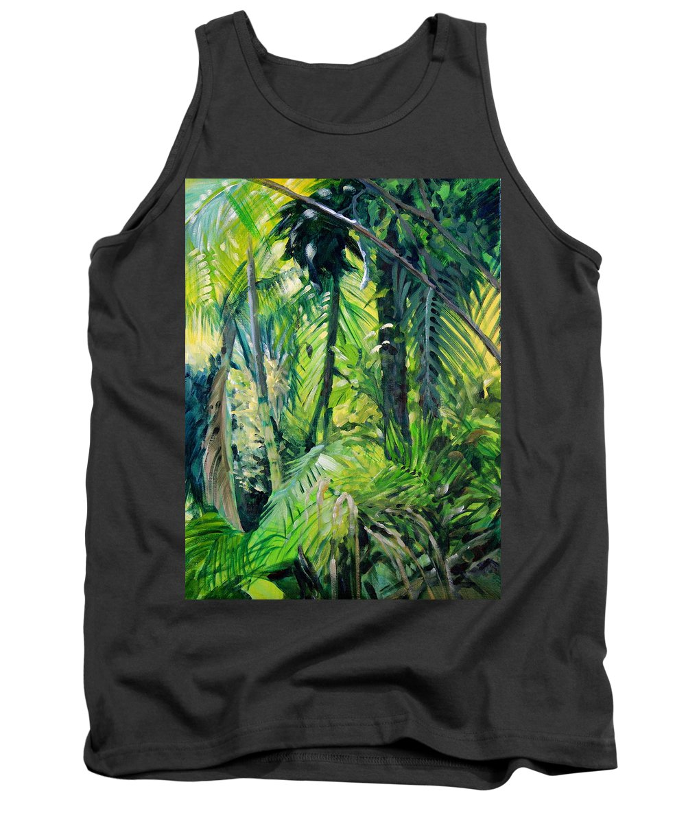 Forest Tank Top featuring the painting Window On An Endangered Gem by Kitty Harvill