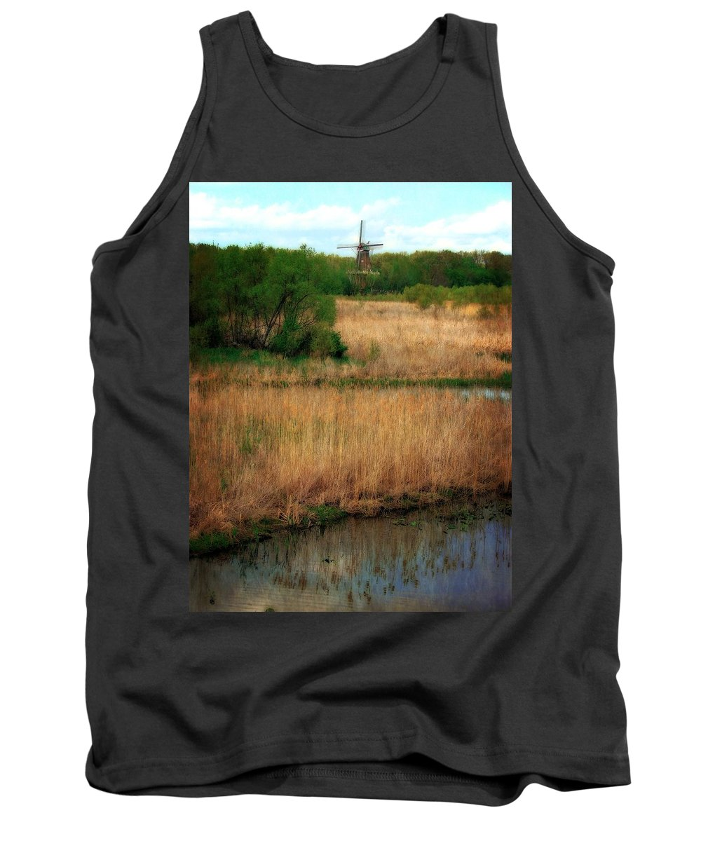 Windmill Island Tank Top featuring the photograph Window On The Waterfront Dezwaan Windmill by Michelle Calkins