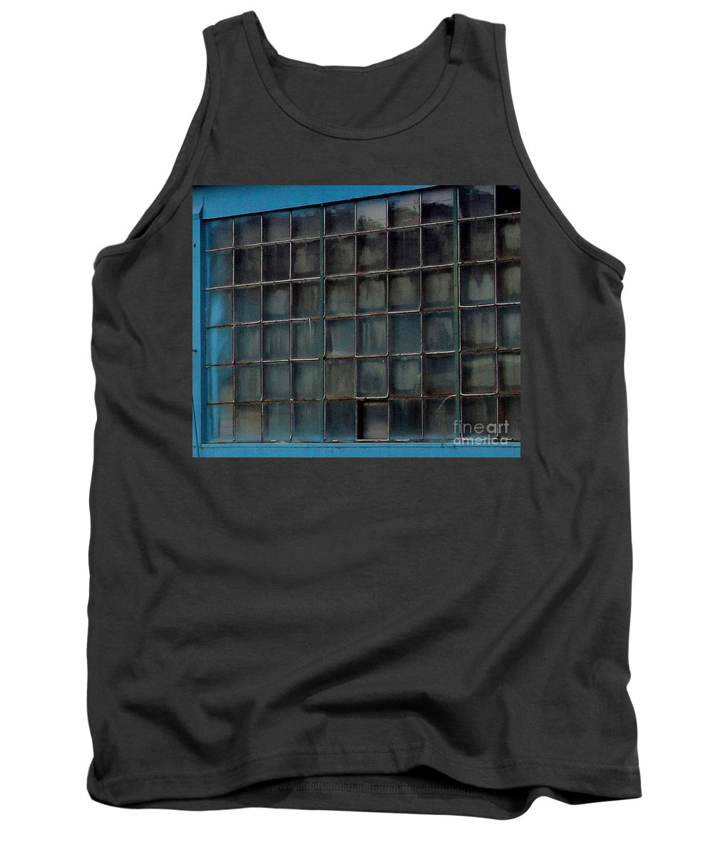 Building Tank Top featuring the photograph Windows In Blue Building by Karen Adams