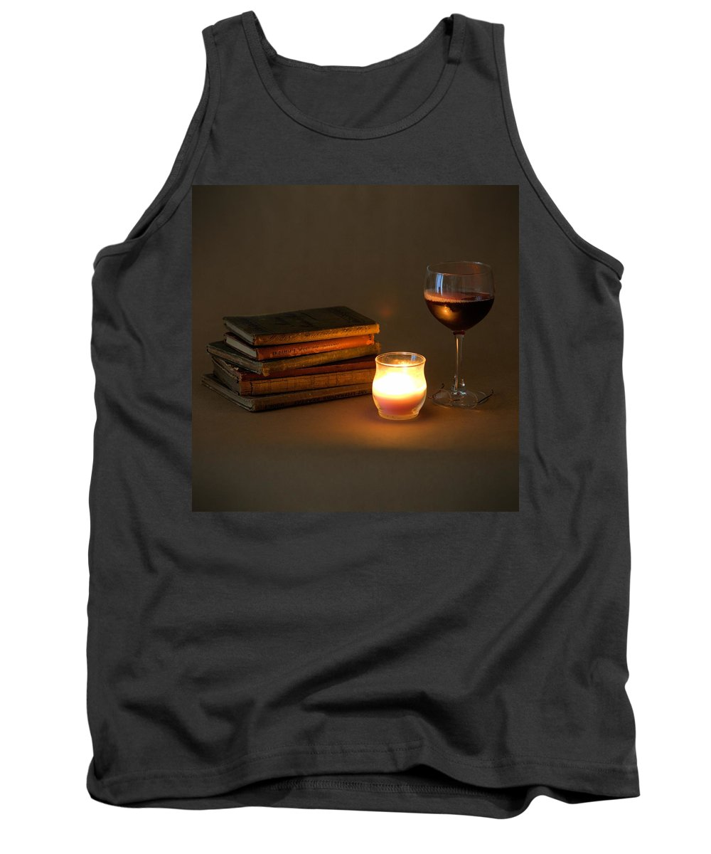 7799 Tank Top featuring the photograph Wine And Wonder C - Square by Gordon Elwell