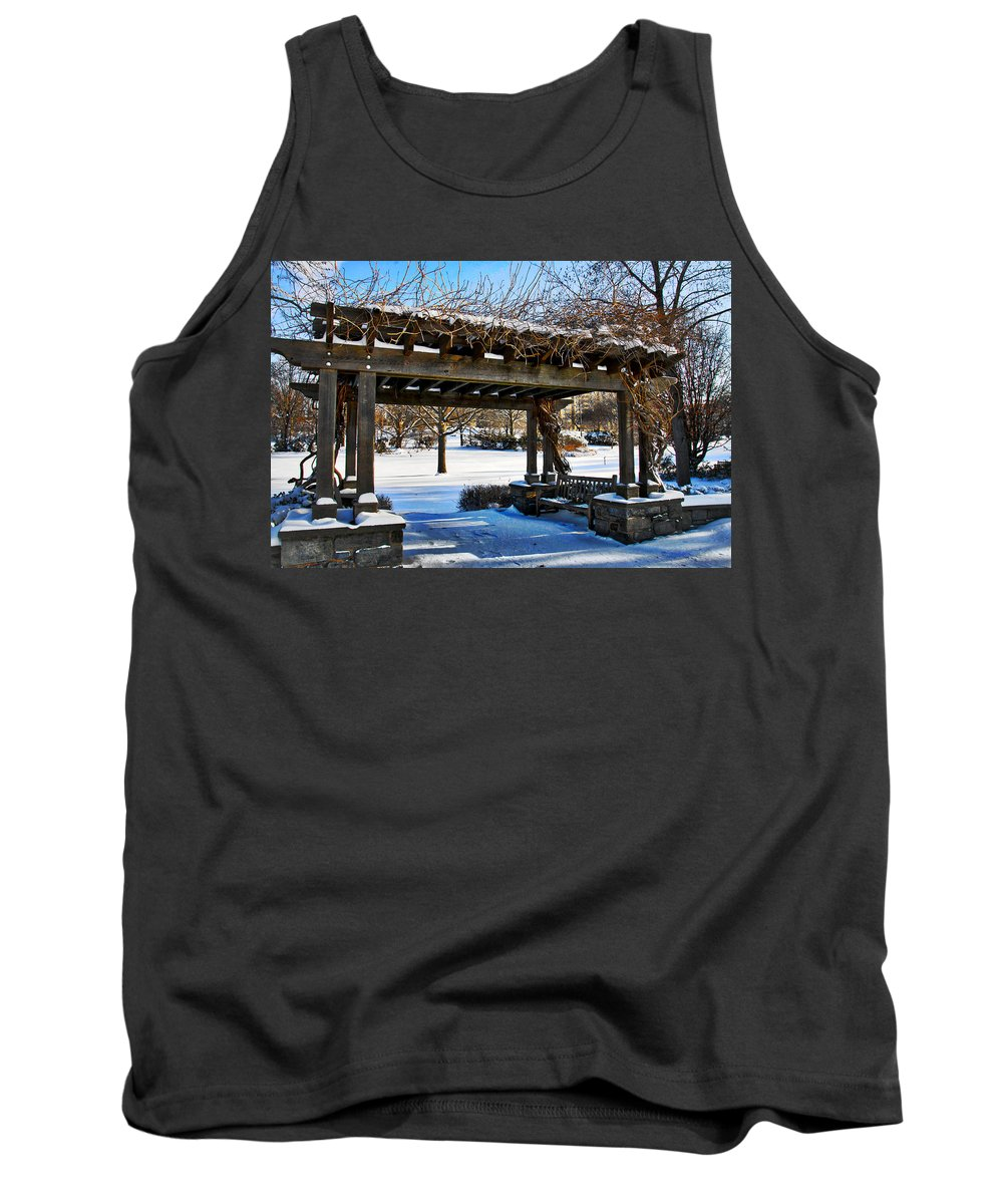 Arbor Tank Top featuring the photograph Winter Arbor by Alice Gipson