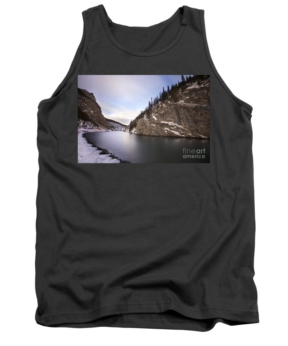 Canmore Tank Top featuring the photograph Winter Calm by Evelina Kremsdorf