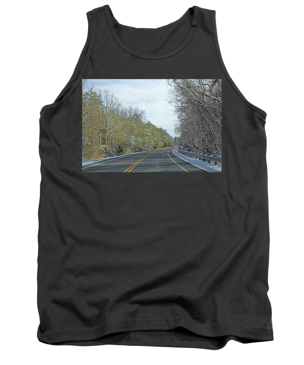 Country Tank Top featuring the photograph Winter Cruise by Betsy Knapp