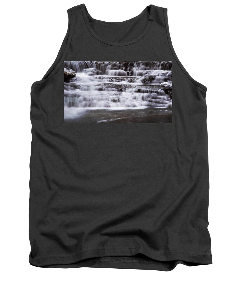 Waterfall Tank Top featuring the photograph Winter Fall by Melissa Petrey