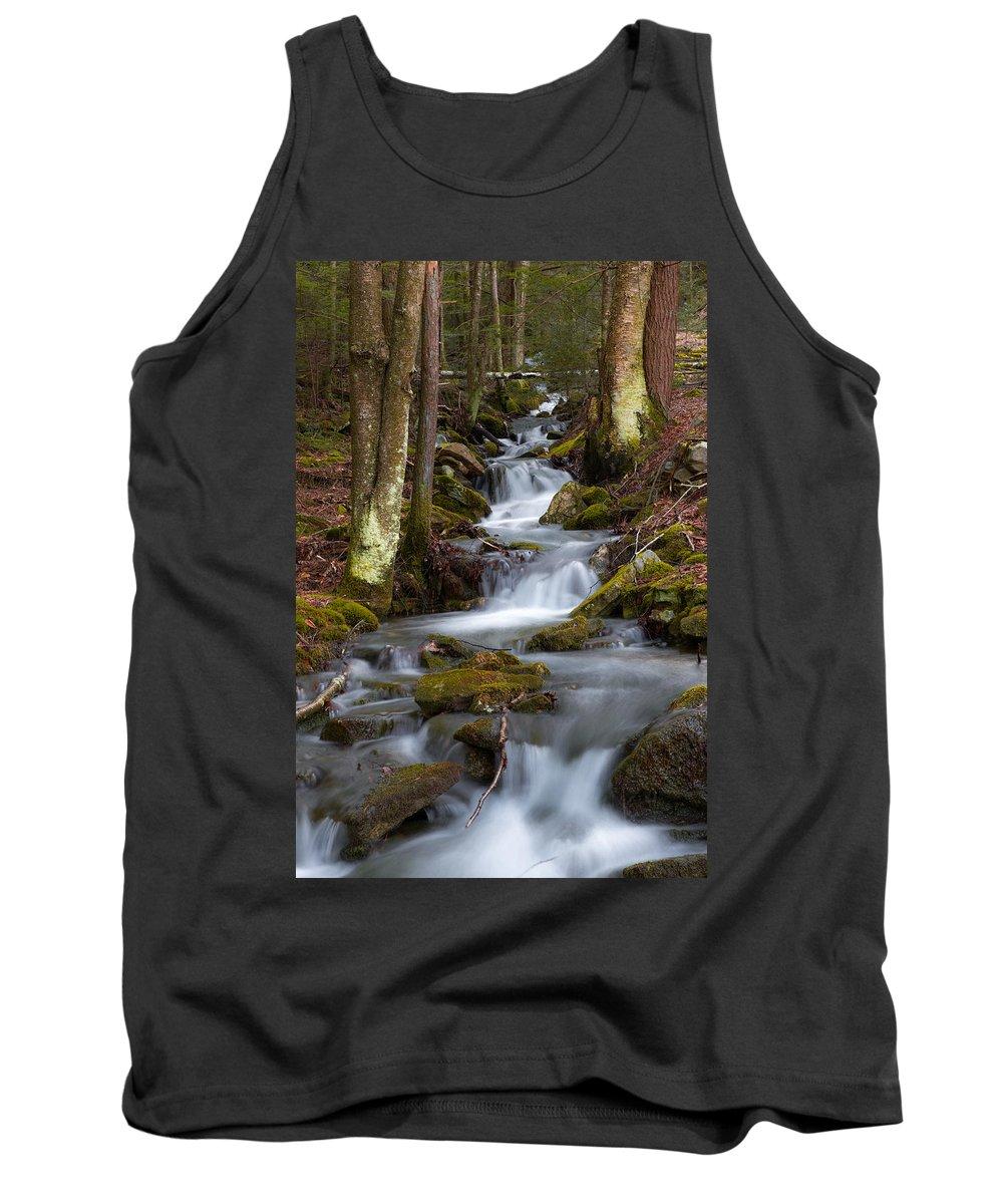 Stream Tank Top featuring the photograph Winter Runoff by Scott Hafer