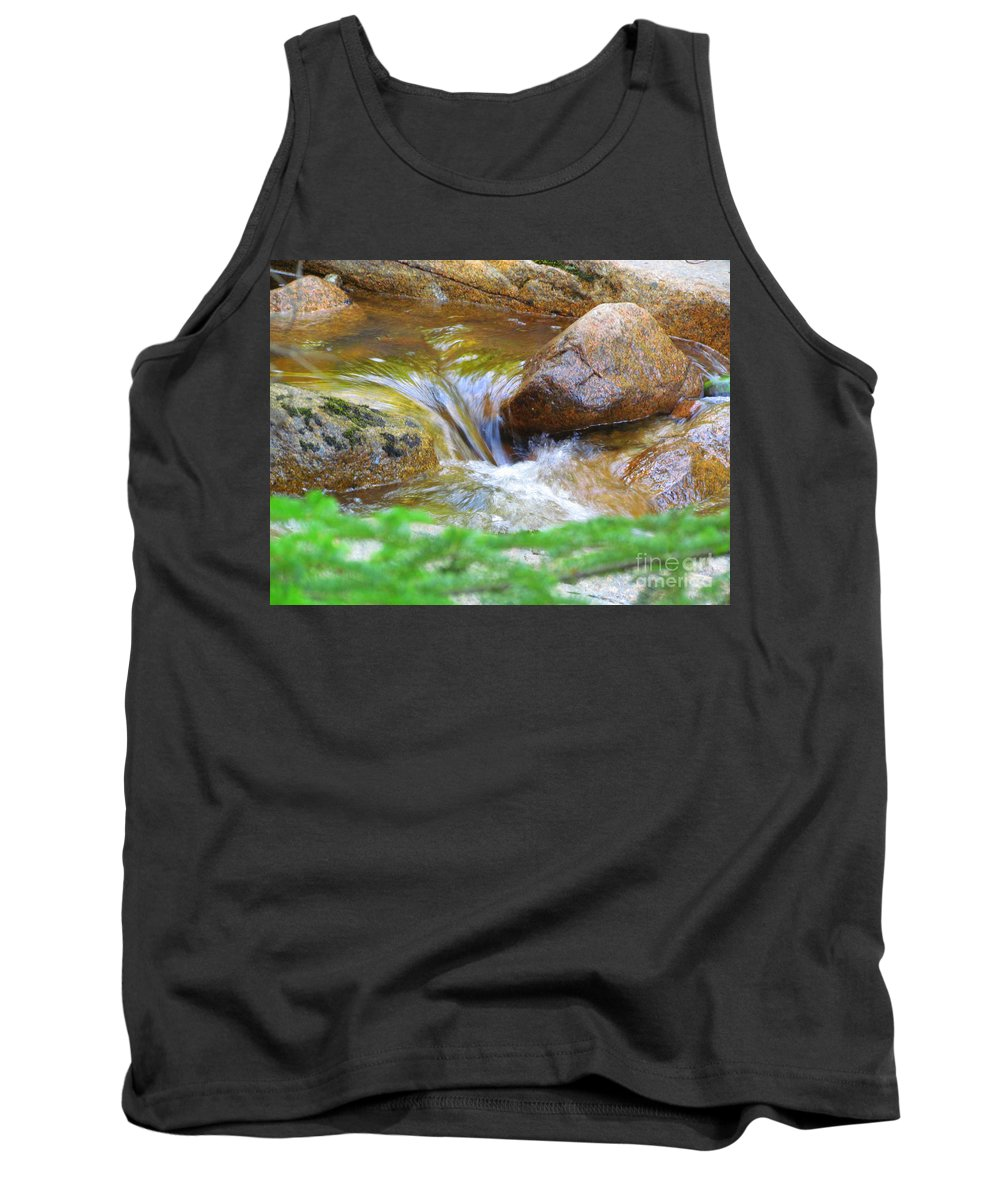 Water Tank Top featuring the photograph Wishing Waterfall by Elizabeth Dow