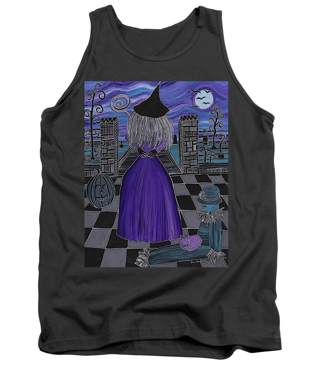 Witch World Tank Top featuring the painting Witch World by Barbara St Jean