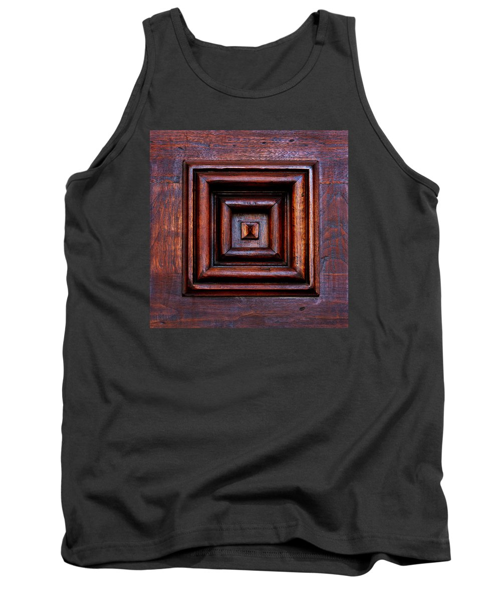 Santa Barbara Tank Top featuring the photograph Wood Panel by Art Block Collections