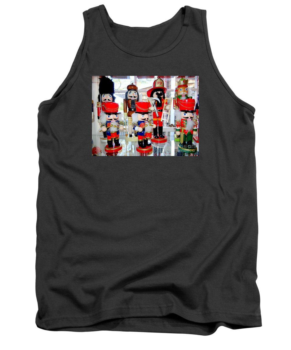 Christmas Tank Top featuring the photograph Wooden Soldiers by Ed Weidman