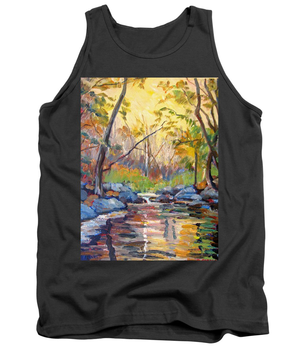 Woods Tank Top featuring the painting Woodland Sketch by Robert Gerdes