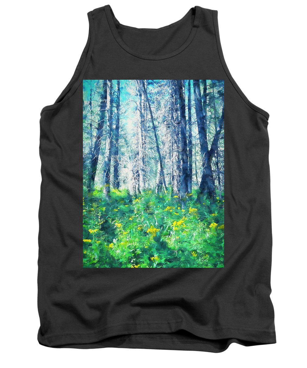 Landscape Tank Top featuring the photograph Woods 1 by Pamela Cooper