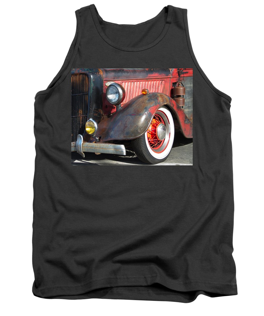 Auto Photo Tank Top featuring the photograph Work In Progress by Guy Shultz