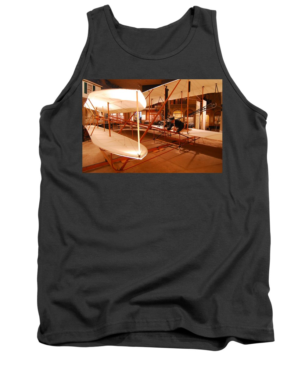 Aeroplane Tank Top featuring the photograph Wright Brothers Memorial by Alex Grichenko