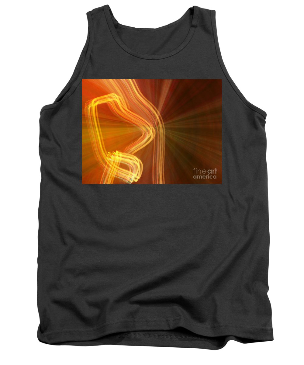 Digital Photography Tank Top featuring the photograph Write Light Shapes by Luc Van de Steeg