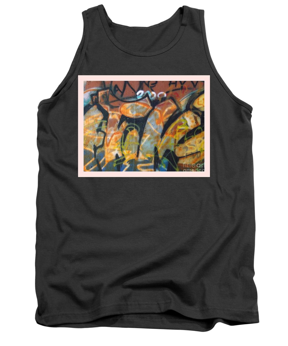 Wall Tank Top featuring the photograph Writing On The Wall 1 by Sara Raber