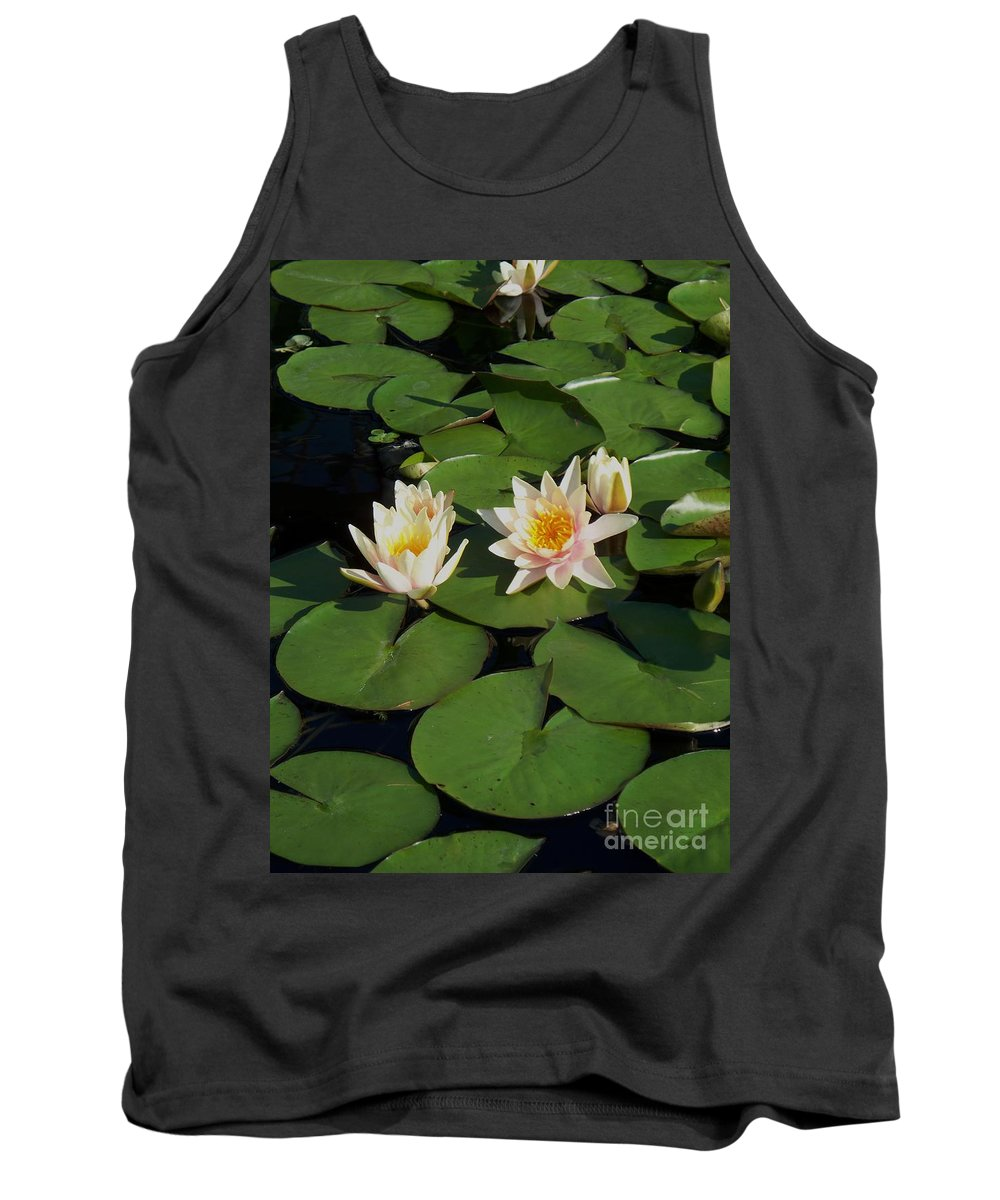 Water Lilies Tank Top featuring the photograph Yellow And Pink Lily by Eric Schiabor