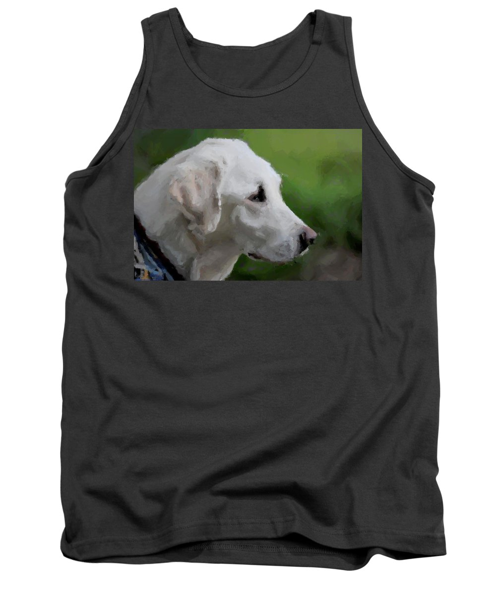 Labrador Retriever Tank Top featuring the photograph Yellow Lab by Terry DeLuco